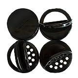 reCAP Mason Jars Lid Shaker Minis Caps, Black, 4 Pack, for Ball Miniature Storage Jars ONLY