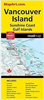 Vancouver Island Road Map Canadian Cartographics Corporation