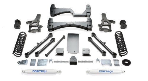 Fabtech K3055 Basic Lift System w/Shocks w/Performance Shocks 6 in. Lift Basic Lift System w/Shocks