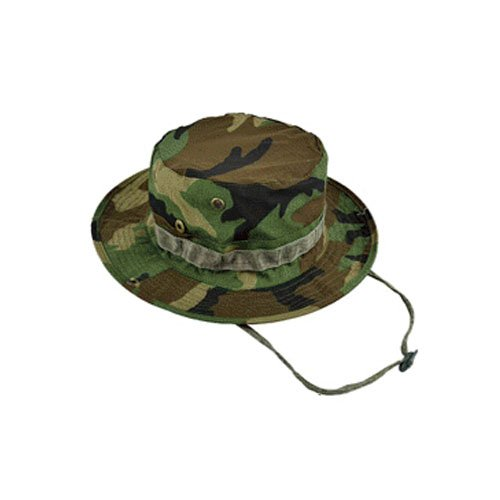 (Elife Men's Military Tactical Head Wear/Boonie Hat Cap For Wargame,Sports,Fishing &Outdoor Activties (Woodland Camouflage BDU))
