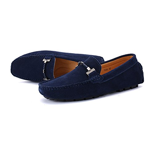 tamaño de Mocasines nhatycir conducción a genuino 47 Mocasines de hombres moda barco Trabajo mano Cuero de Zapatos Gamuza Sutura on los negocios de hecho Mocasines hasta de Slip Armada U Zapatos Penny planos qUxCEqH