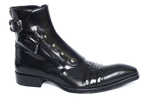 Jo Ghost 3207 black leather zip up boots (42)