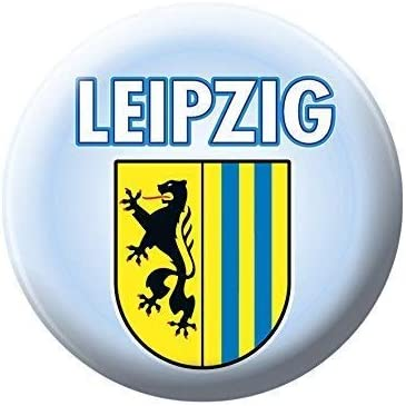 Boton De Pin Con Estampado Leipzig Escudo 18040 Talla Aprox 57mm Amazon Es Hogar