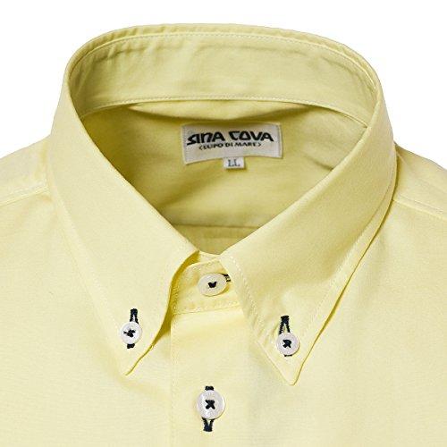 SINA COVA Men's Short Sleeve Shirt yellow Large Yellow by SINA COVA (Image #2)