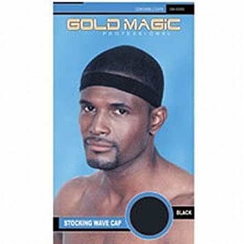 5a1db76b1f0 Amazon.com   Gold Magic Stocking Wave Cap (2 Per Pack)   Hair Styling  Accessories   Beauty