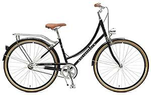 Retrospec Venus Dutch Step-Thru City Comfort Hybrid Bike, Black, 1- Speed / 38cm, s/m