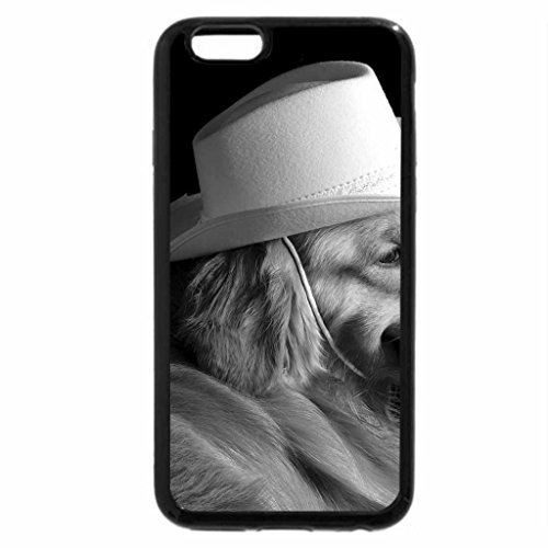 iPhone 6S Case, iPhone 6 Case (Black & White) - Dog in a Hat