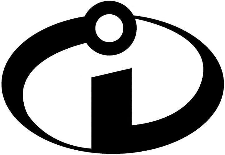 CCI Incredibles Icon Logo Decal Vinyl Sticker|Cars Trucks Vans Walls Laptop|Black |5.5 x 3.75 in|CCI1712