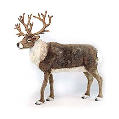 """47"""" Life-Size Handcrafted Extra Soft Plush Nordic Reindeer Stuffed Animal: Office Products"""