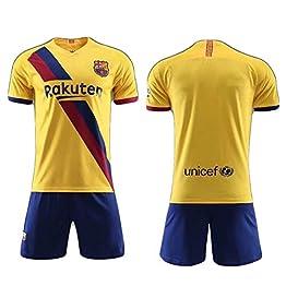 Lionel Messi 10 Lionel Andrés Messi Fútbol Club Barcelona 2019-2020 barça Nouveaux Costumes de Football Maillots de Football à Domicile et à l'étranger Maillots d'entraînement Sportswear