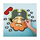 Pin The Eye Patch on the Pirate Game – Up to 12 players, Health Care Stuffs