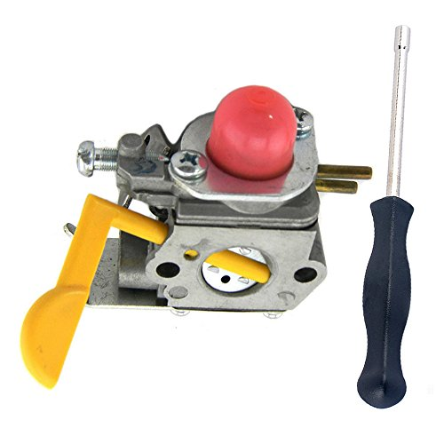 Savior C1U-W18 Carburetor Carb + Spline Shaped Screwdriver for Zama Craftsman Poulan Weedeater String Trimmer FL20 FL23 FL26 FX26 FX26S MX550 TE475Y XT260 XT700 FL20C MX557 SST25C FX26SC Replace 530071752 530071822 545081808 530071750 530035560