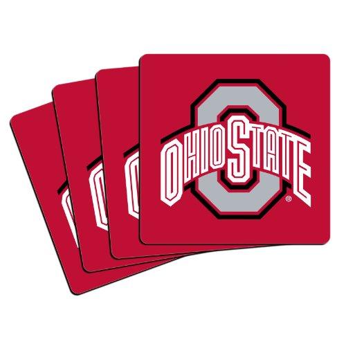 NCAA Ohio State Buckeyes Neoprene Coasters, Pack of (Osu Halloween Party)