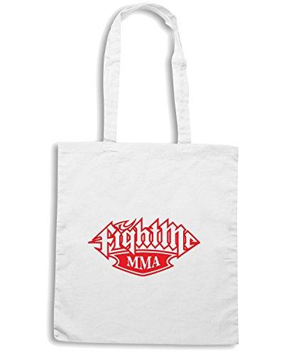 T-Shirtshock - Bolsa para la compra TAM0195 Fight-Me-MMA-tshirt hoodie Blanco