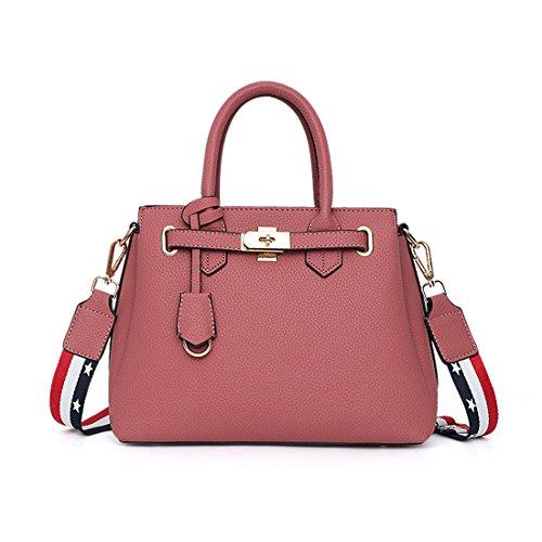Di Stoccaggio Scuro classico PU Luckywe Rosso Borsa Mano Il Donna Tasca Sacchetto spalla in pelle Tracolla Mano gUwUq8t