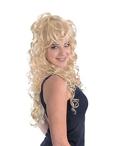 Bristol Novelty BW656 Blonde Rock Chick Wig, Yellow, One Size -