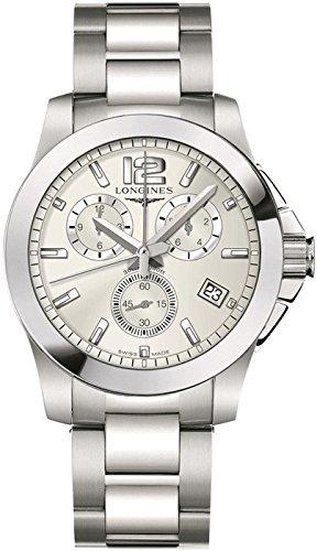 Longines L36604766 - Reloj de cuarzo para hombre, con correa de acero inoxidable, color plateado: Amazon.es: Relojes
