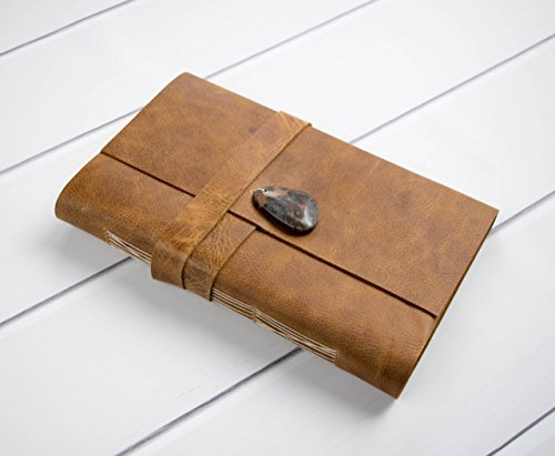 Handmade Large Brown Distressed Leather Journal, Travel Journal