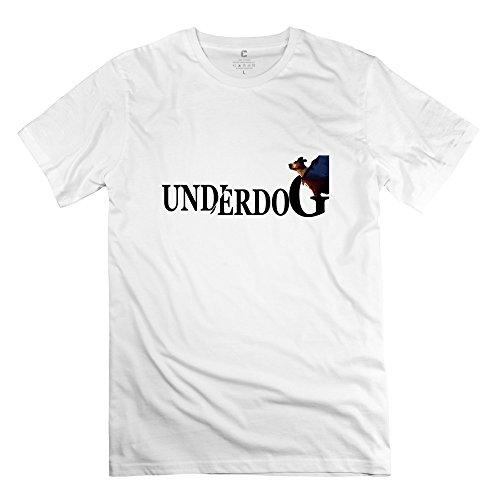 YHYT Men's T-Shirt Underdog Crew Neck M White