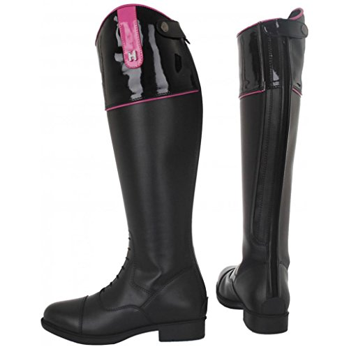 Rubber Horse Horka Equestrian Top Boots Riding Rhine Back Black Emy Stones Zip Adults rqrRTwtnz