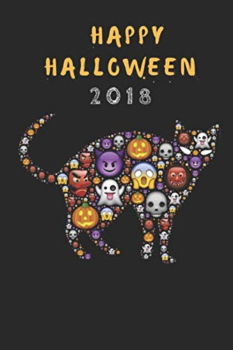 Happy Halloween 2018: A Funny Halloween Ghost Cat Journal, Customised Note Book For Kids And Adults for $<!--$5.99-->