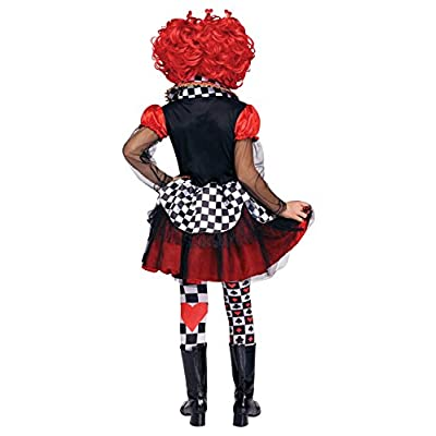 Fun World Queen of Hearts Costume, Large 12 - 14, Multicolor: Toys & Games