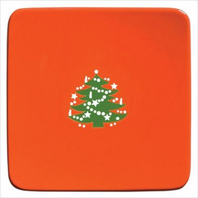 Waechtersbach Large Flat Square Plate with Christmas Tree