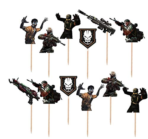 Call of Duty Cupcake Toppers Made From Premium Cardstock -