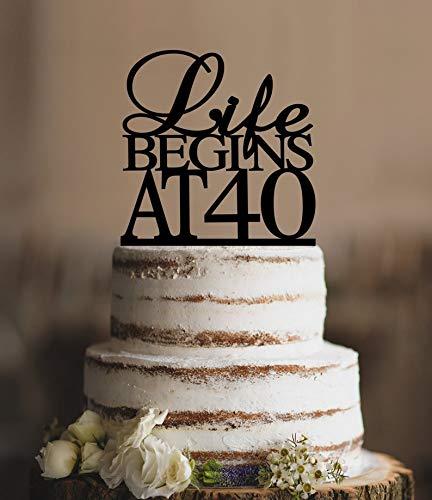 Decoración para tarta de 40 cumpleaños, diseño con texto en ...