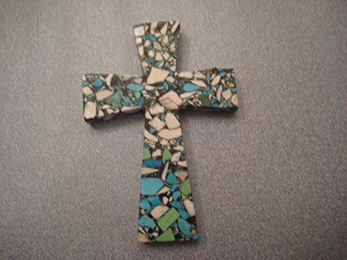 Mosaic Magnesite Large Cross Pendant 1 ()