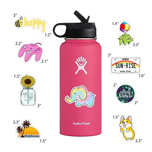 50pcs Vinyl Aesthetic Stickers for Water Bottles Laptop, Cute VSCO Hydroflask Stickers for Skateboard Notebooks Journals…