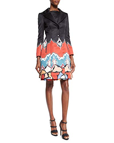 ETRO Long-Sleeve Poppy and Paisley Print Topper with Matching Sleeveless Dress Size 12 EU - Etro Apparel Womens
