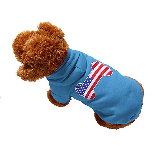 AKwell Dog Pet Clothes Hoodie Warm Sweatshirts Pet Fleece Hooded Sweater Puppy Coat Apparel