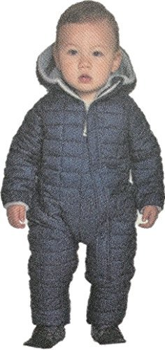 Snow Quilting (Snozu Infant and Toddler Ultralight Quilting One Piece Snowsuit (Navy White, 18M))