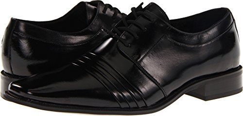 Stacy Adams Men's Raynor Oxford,Black,11 M (Black Pleated Shoes)