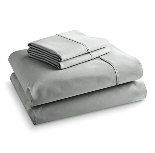 1100 Thread Count Sheet Set with Pillowcases (Queen Set, Soft Silver) - Wal Mart Comforter Sets