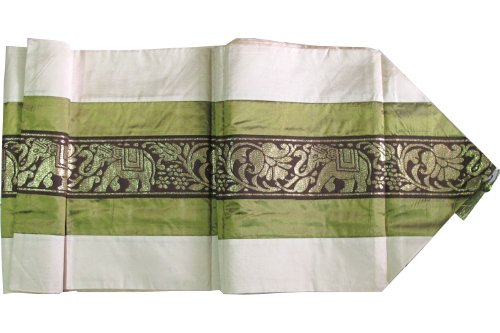 REALLY NICE ELEPHANTS TABLE & BED RUNNER FOR YOUR KING SIZE BED WIDTH=16 INCHES, LONG = 97 INCHES
