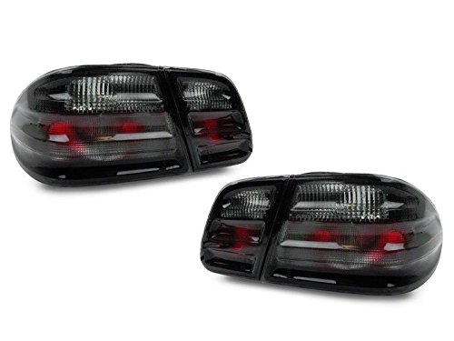 96-02 Mercedes Benz W210 E Class 4D Sedan Euro All Smoked Rear Tail Lights