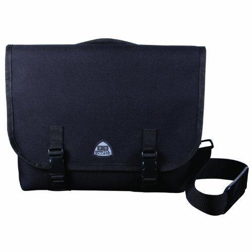 Bristol Ballistic SecureCarry Discreet Handgun Messenger Bag with 7-Pin Locking System, Black, 14 x 11 x 3-Inch