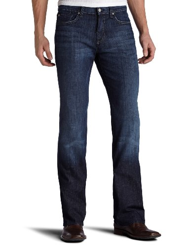 7 For All Mankind Men's Austyn Relaxed Straight-Leg Jean in Los Angeles Dark, Los Angeles Dark, 30x36