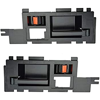 Black Front Exterior Outside Door Handle Pair Set for Chevy Pickup Truck S10 S15