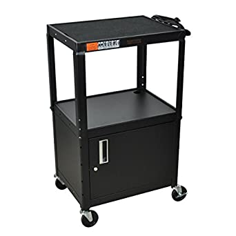 Amazon h wilson w42ace adjustable height cabinet av cart h wilson w42ace adjustable height cabinet av cart black sciox Gallery
