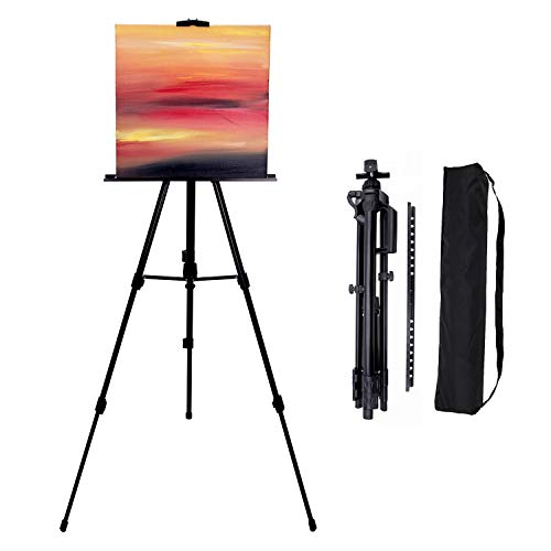 Painting Easels 66-inch Art Tripod Stand for Painting Adjustable Floor...
