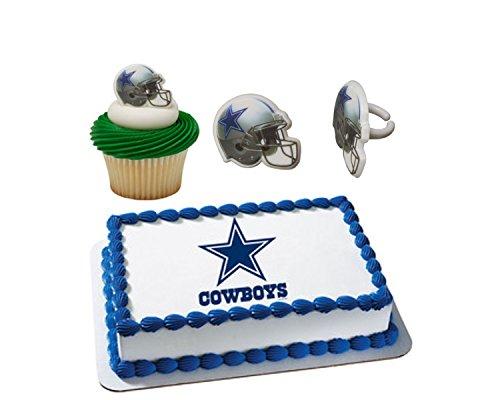 Dallas Cowboys Licensed Edible Wafer Cake Topper &