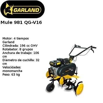 MOTOAZADA GARLAND MULE 981QG-V16: Amazon.es: Bricolaje y herramientas