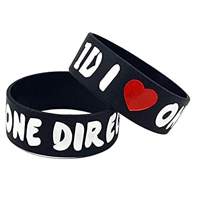Relddd Silicone Bracelets With Sayings Love One Direction Rubber Wristbands For 1D S Fans Set Pieces Estimated Price £26.99 -
