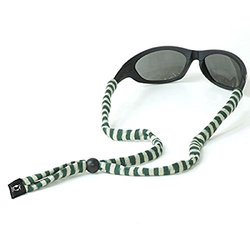 Chums Original Cotton Standard End Eyewear Retainer Striped Colors, Green & (End Retainer)