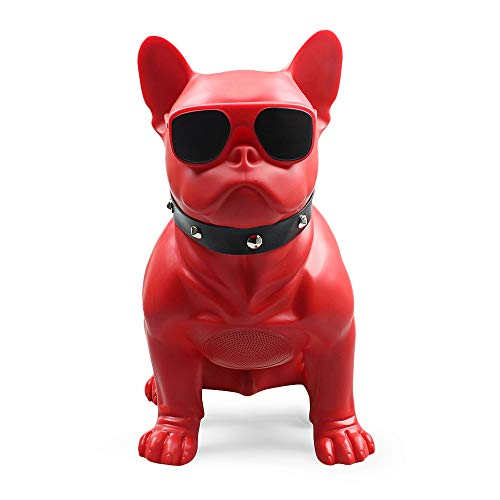 - EbuyChX M11 Large Bulldog Shape Bluetooth Speaker Portable Wireless Player RED