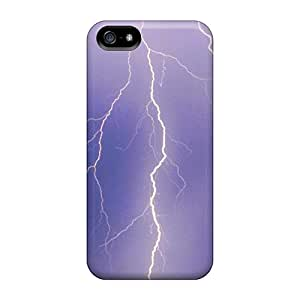 New Premium Flip Case Cover Lightning Skin Case For Iphone 5/5s