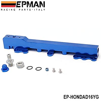 EPMAN High Volume Fuel Injector Rail For Honda D Series Sohc Fuel Rail Kit (Blue): Automotive